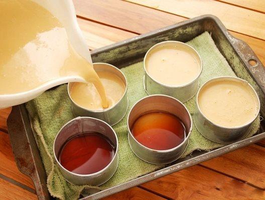 cách làm kem flan cafe 3
