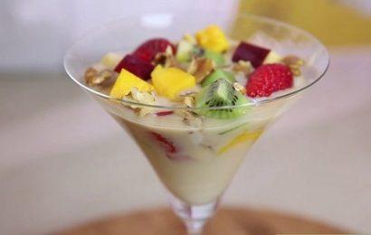 Cách làm kem sữa chua hoa quả siêu ngon siêu đơn giản