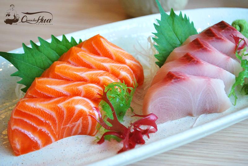 gỏi cá hồi ăn với rau gì 1