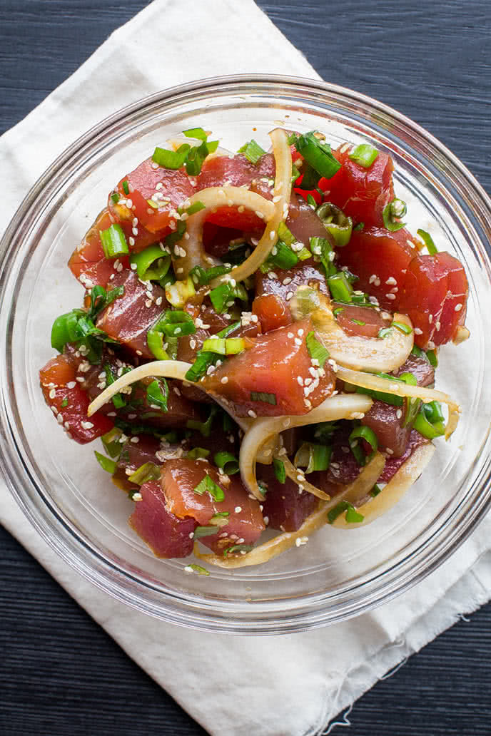 gỏi cá hồi ăn với rau gì 2
