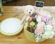 Học cách làm hộp quà hoa và gấu cực kì đáng yêu tặng bạn gái
