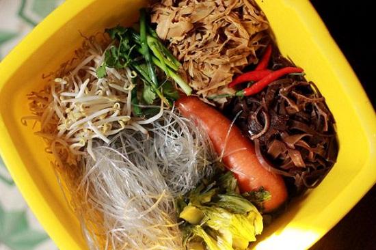cách làm món miến xào măng khô