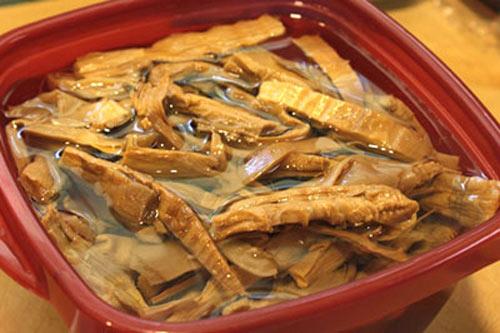 cách làm món miến xào măng khô 2