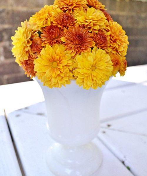 Cách cắm hoa cúc để bàn cho phòng khách thêm sang trọng