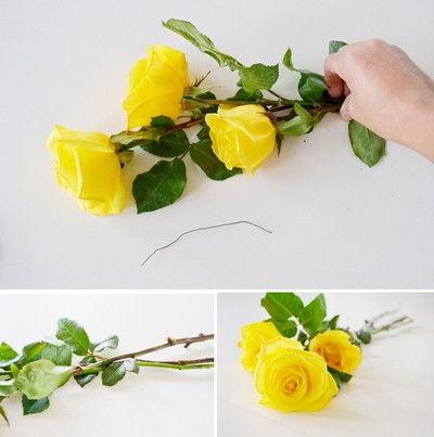 cách cắm hoa hồng để bàn tiệc