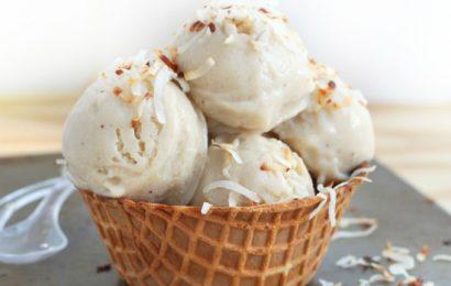Cách làm kem sữa dừa không trứng ngon béo