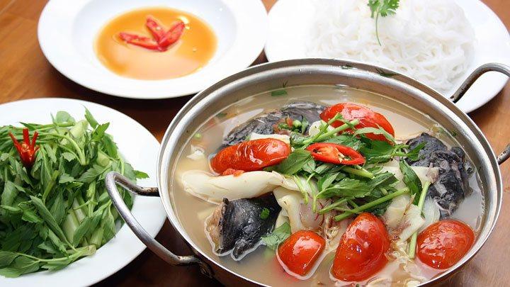 cách làm lẩu cá lăng măng chua