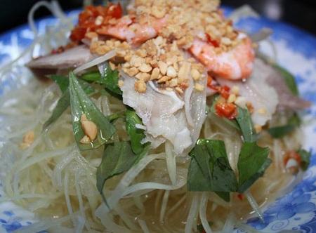 cách làm nộm miến Thái Lan