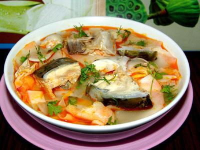 cách nấu cá hồi măng chua