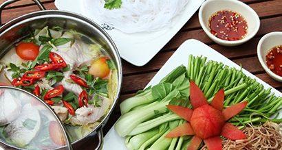 Bất ngờ với cách nấu lẩu cá tầm măng chua thanh dịu