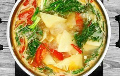 Tuyệt vời với cách nấu lẩu măng chua thanh dịu cực ngon