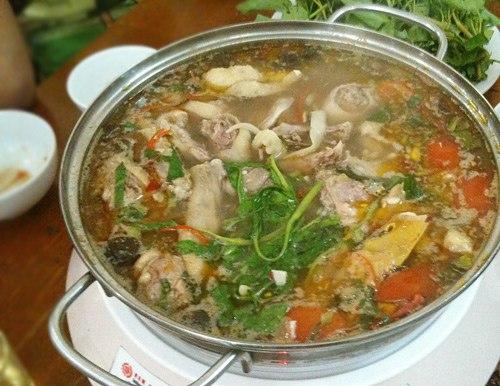 cách nấu lẩu ngan măng chua