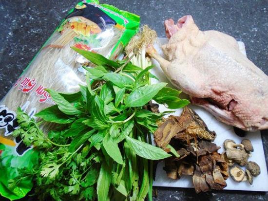 cách nấu miến măng vịt 1