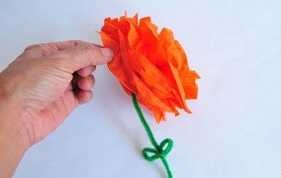 Học làm hoa bằng giấy lụa cực dễ tặng mẹ ngày 8/3