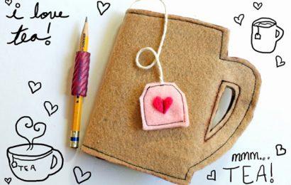 Học làm sổ tay hình tách trà tặng nàng nhân ngày 8/3 cực cute