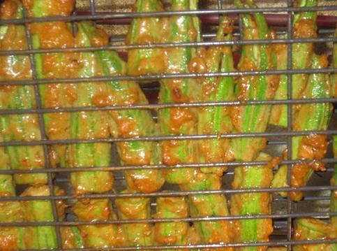 cách ướp đậu bắp nướng
