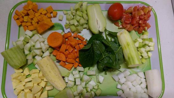 các loại rau củ nấu cháo cho bé