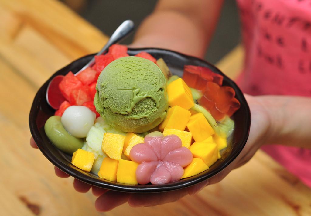 cách làm kem hoa quả tươi