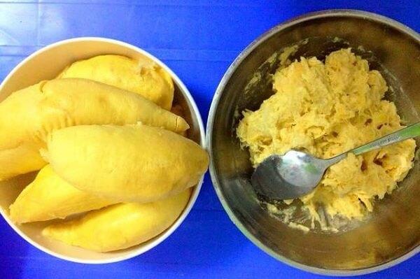 cách làm kem sầu riêng không cần máy 3