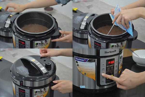 cách nấu chè đỗ đen bằng nồi áp suất 2