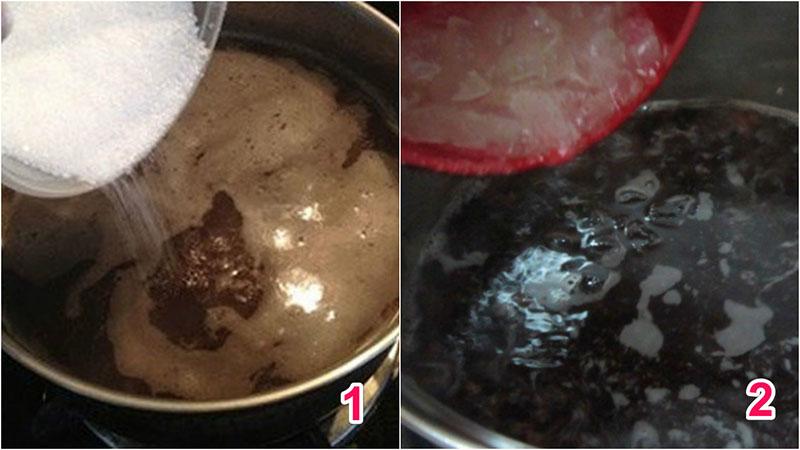 cách nấu chè nha đam đậu đen 3