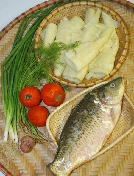 Cá chép nấu măng chua 2