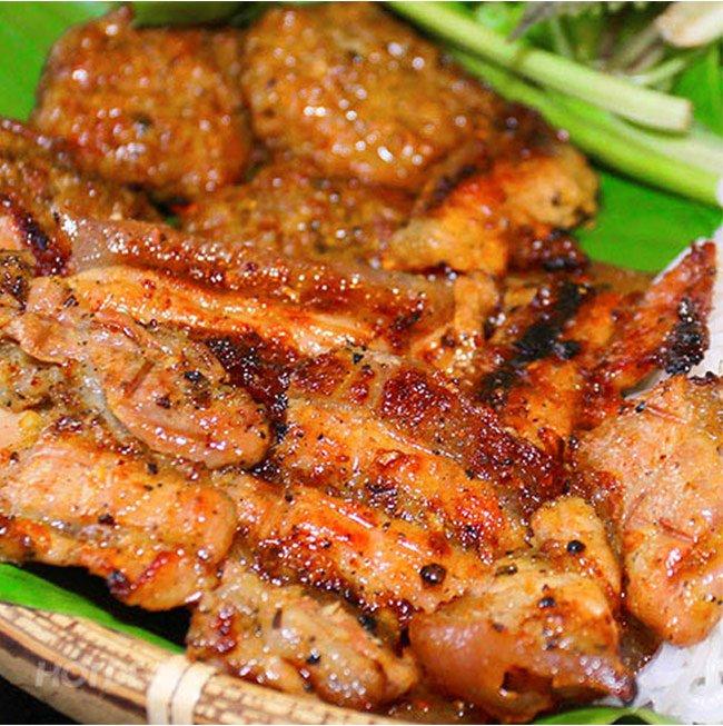 cách làm bún chả thịt nướng ngon 1