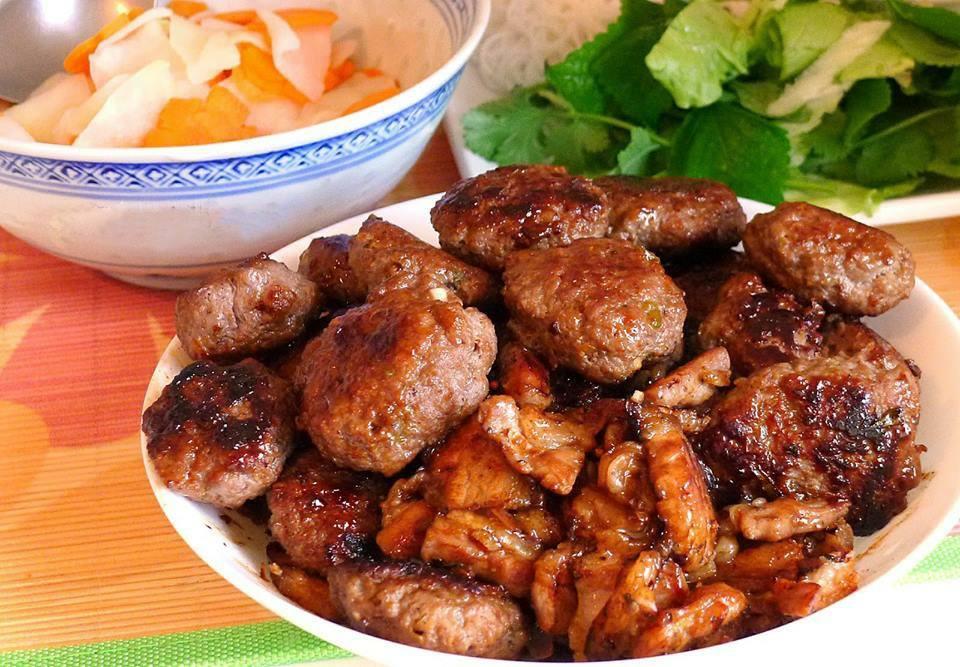 cách ướp thịt nướng bún chả hà nội 3