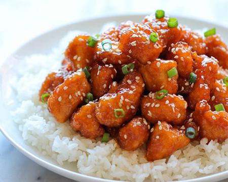 thịt gà sốt chua ngọt 1