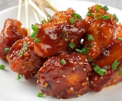 thịt gà sốt chua ngọt 3