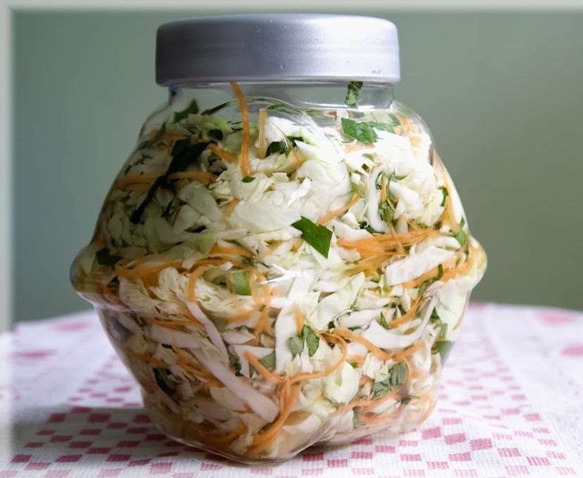 bắp cải muối xổi rau răm 2