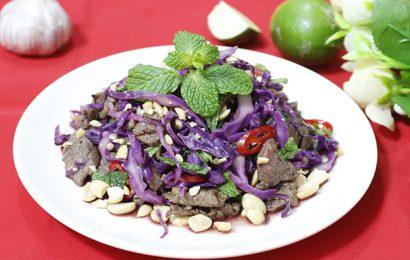 Món ngon mỗi ngày: cách làm bắp cải tím xào thịt bò