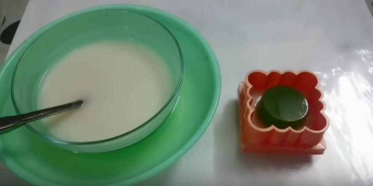 cách làm bánh trung thu rau câu nhân trà xanh 2