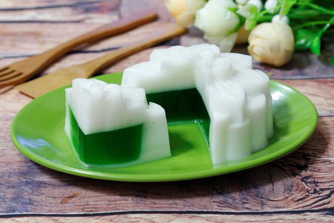 cách làm bánh trung thu rau câu nhân trà xanh 4