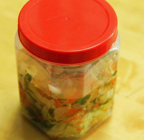 cách làm bắp cải muối xổi ăn ngay 3