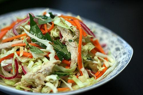 cách làm gỏi gà bắp cải 1