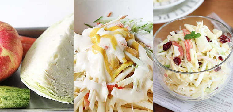 cách làm salad bắp cải giảm cân 2