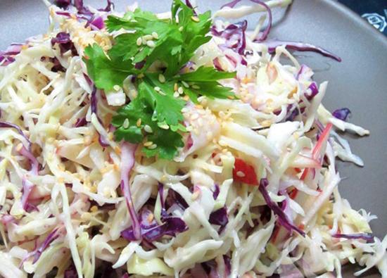 cách làm salad bắp cải trộn mayonnaise 1