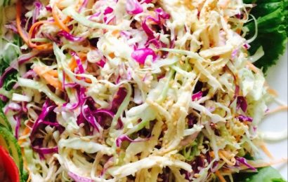 Hướng dẫn cách trộn salad bắp cải tím ăn là nghiện