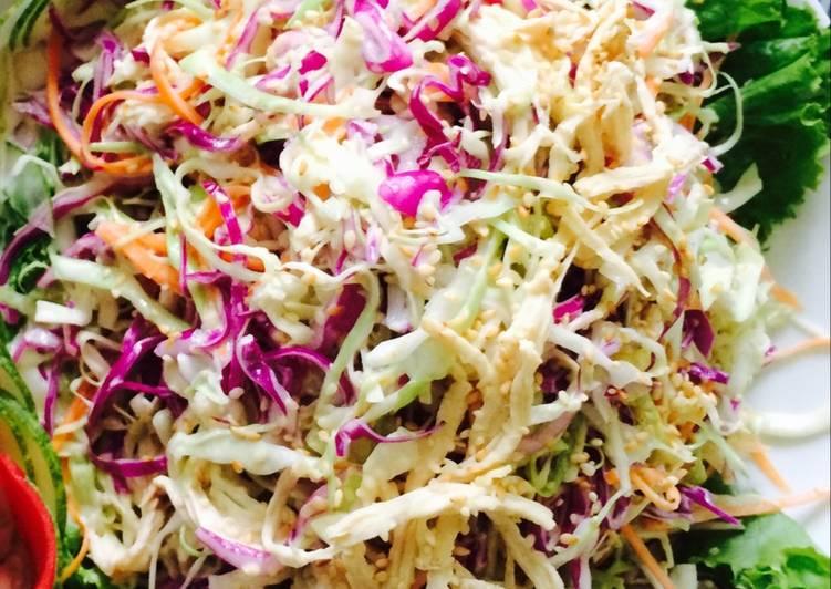 cách trộn salad bắp cải tím 1