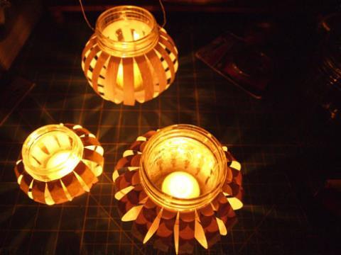 Siêu đẹp với chiếc đèn lồng thủy tinh đi chơi trung thu