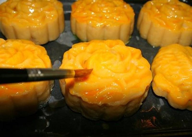 cách làm bánh trung thu nướng chay 3