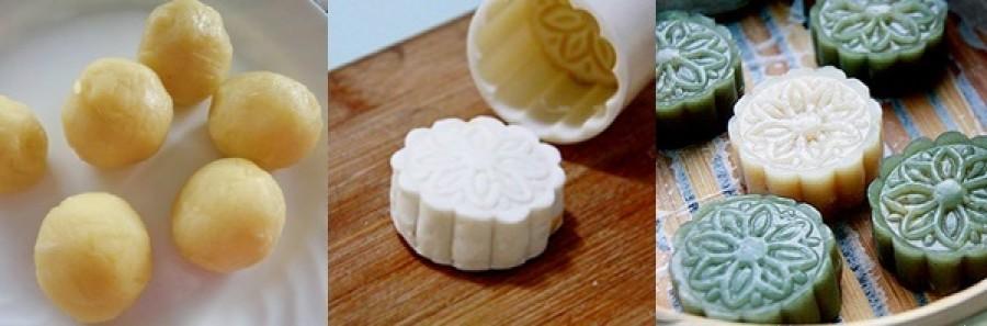 cách làm bánh trung thu không cần lò nướng 2