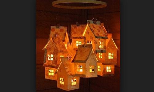 Cách làm đèn lồng trung thu bằng giấy bằng giấy đẹp mà đơn giản