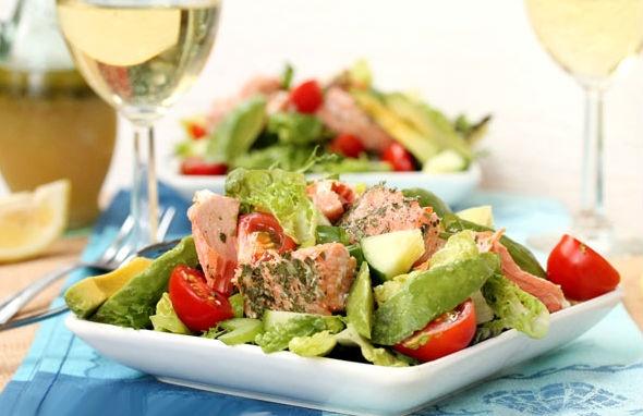 cách làm món salad cá hồi 3