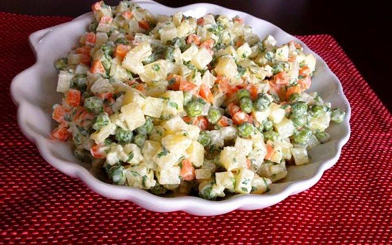 cách làm salad nga táo 1
