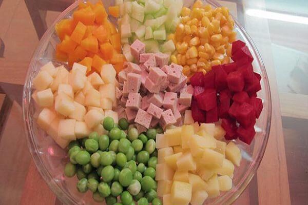cách làm salad nga táo 2