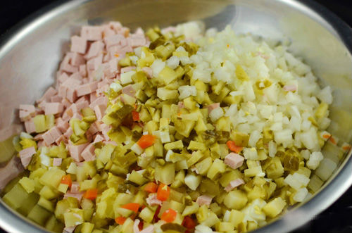 cách làm salad nga truyền thống 2
