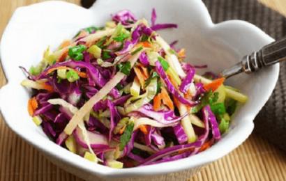 Cách làm salad rau bắp cải tím ngon dễ làm nhất