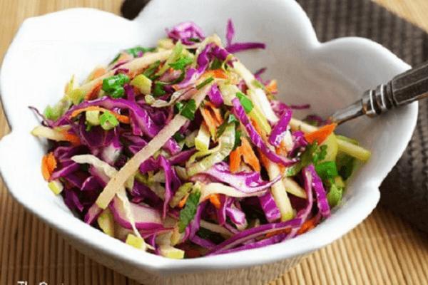 cách làm salad rau bắp cải tím 1
